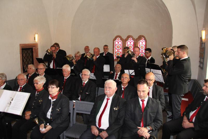 Bläsergruppe beim Gottesdienst