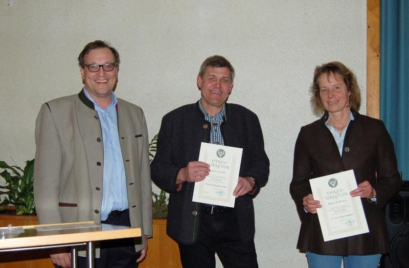 40 Jahre: Karin Kullmann, Wilfried Brietzke, Walter Reinbold, Karl Priester und Heribert Varnhold.