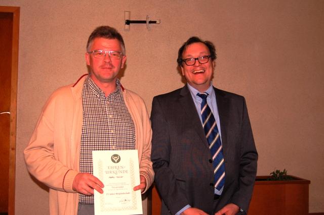 25 Jahre Mitglied im Verein: Markus Horchler.