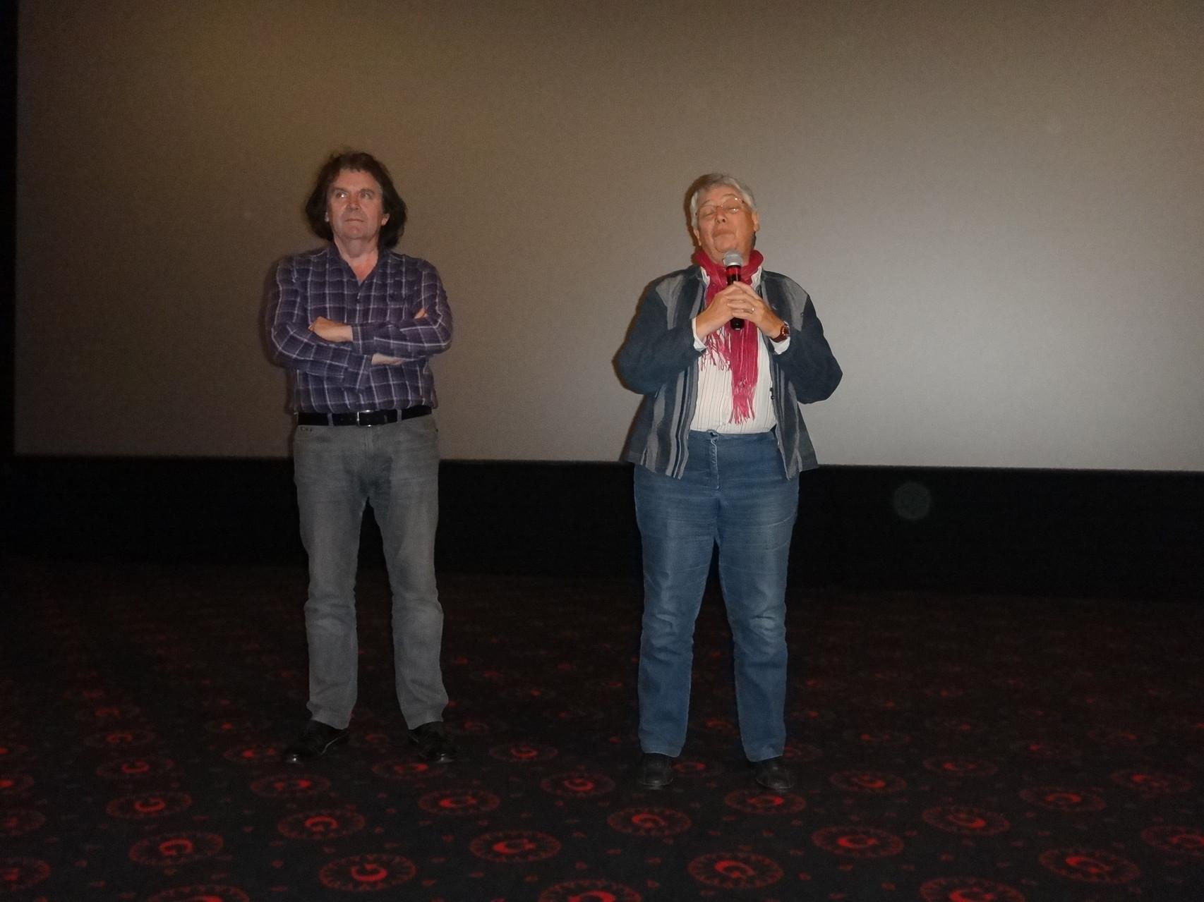 """Jean-Pierre Fagnart et """"Brigitte Senut"""", """"héroïne"""" de """"Brigitte Senut, la dame aux fossiles""""."""