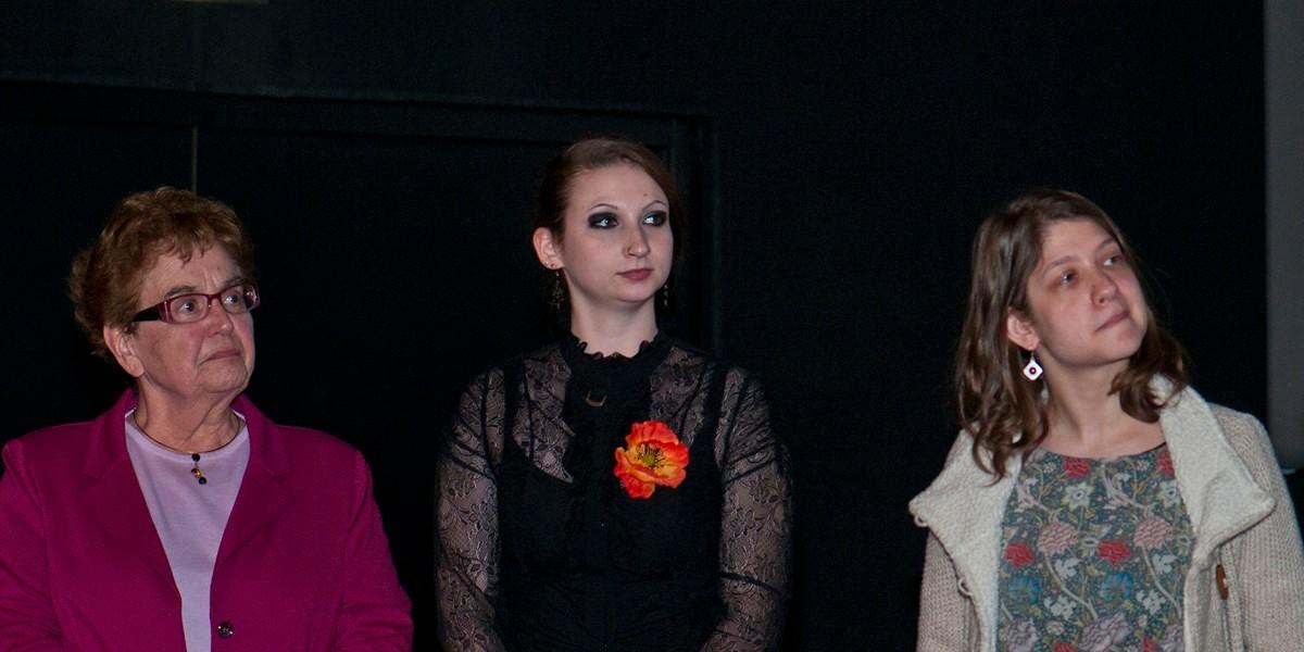 Nicole Payen, présidente de l'association du Petit Patrimoine Picard, Delphine Coquelle, étudiante salariée, Service Archéologique Amiens Métropole, Eva Markovits, chargée de mission au festival international du Film d'Amiens, , membres du jury