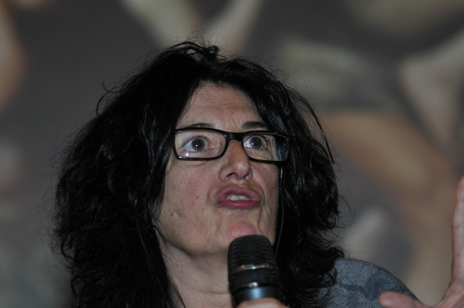 Catherine Le Roux, réalisatrice, présente Les enduits peints de la Verrerie - Chantier de fouilles Arles