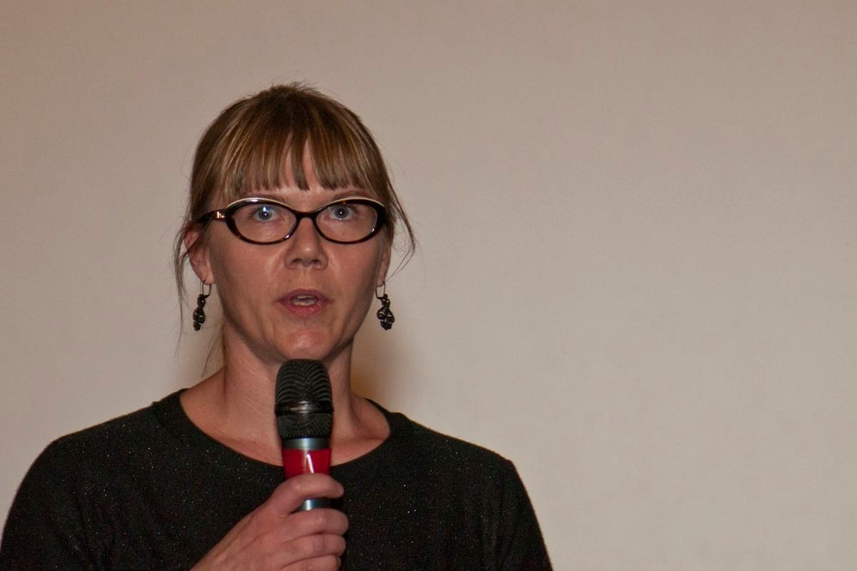 Alexandra Beurrier, professeur de lettre classiques, pour le prix du court métrage décerné par ses élèves du collège Amiral Lejeune.