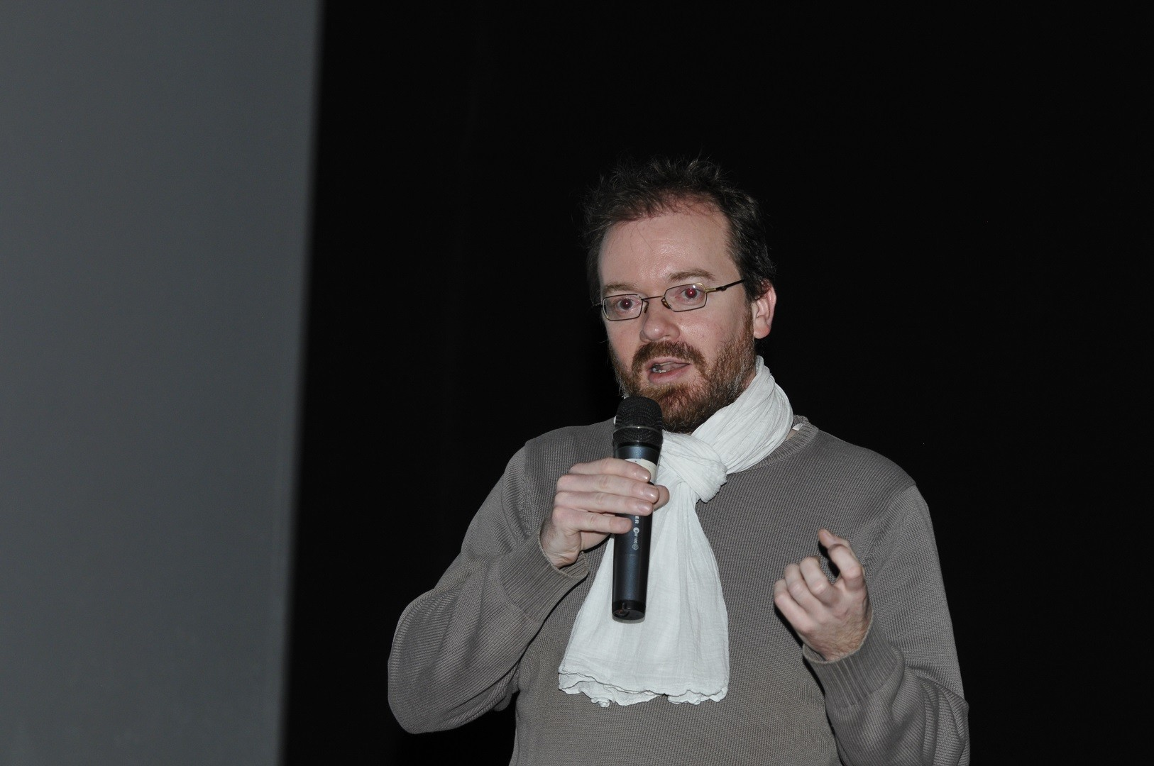 .David Geoffroy, réalisateur, présente La ville sous les blés