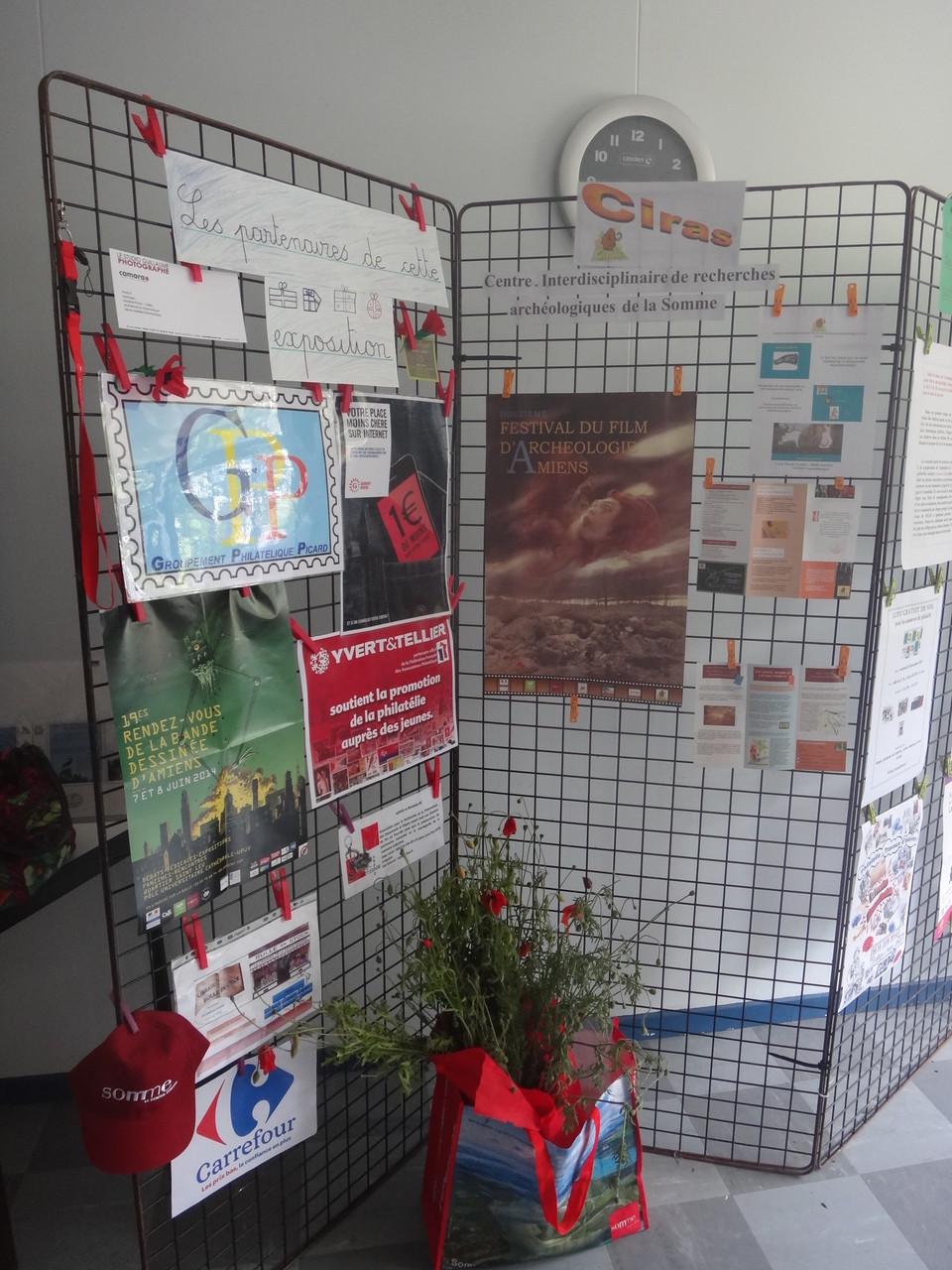Les différents partenaires - Notre association est la marraine de l'exposition.