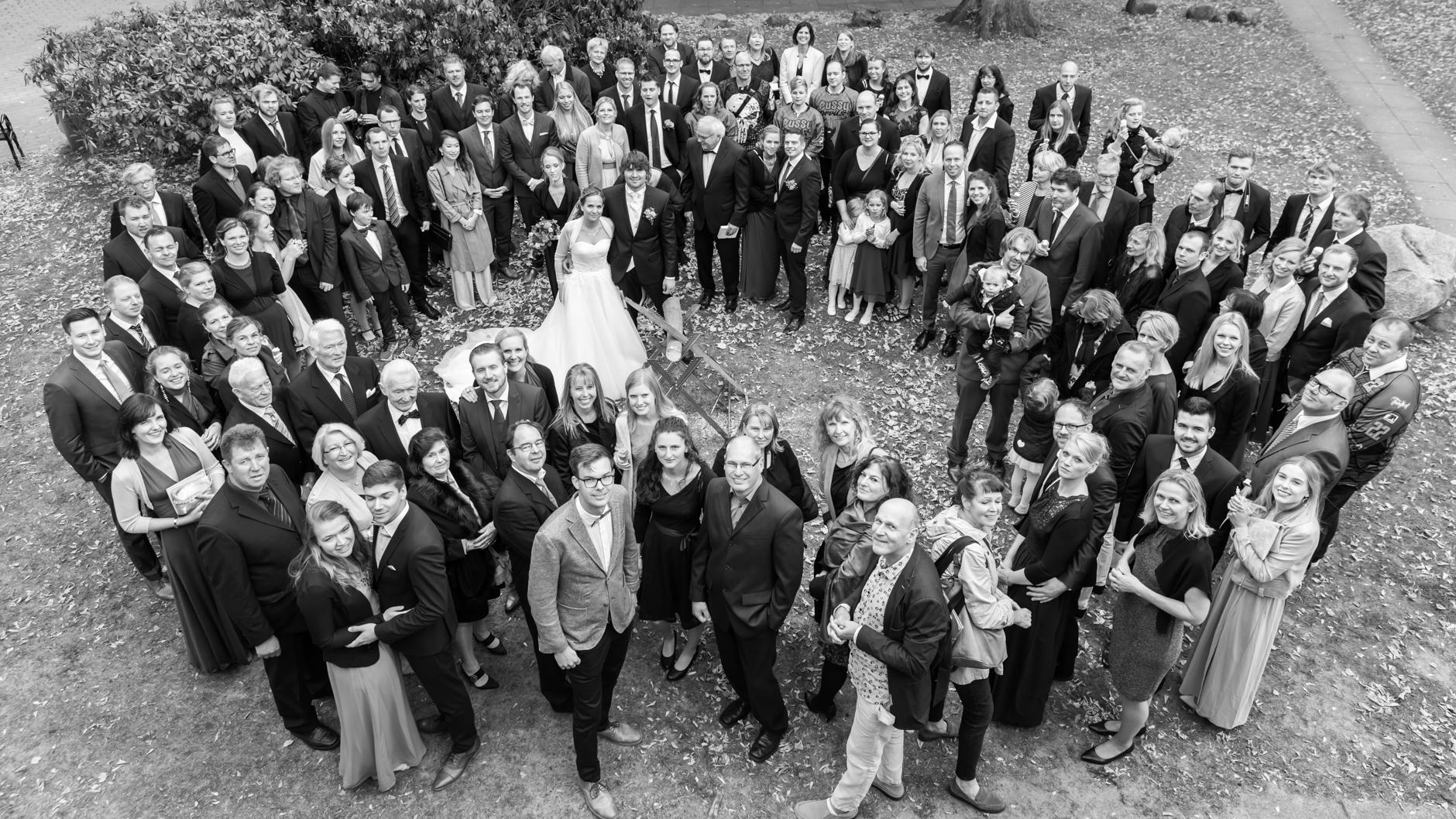 Gruppenfoto vom Kirchendach