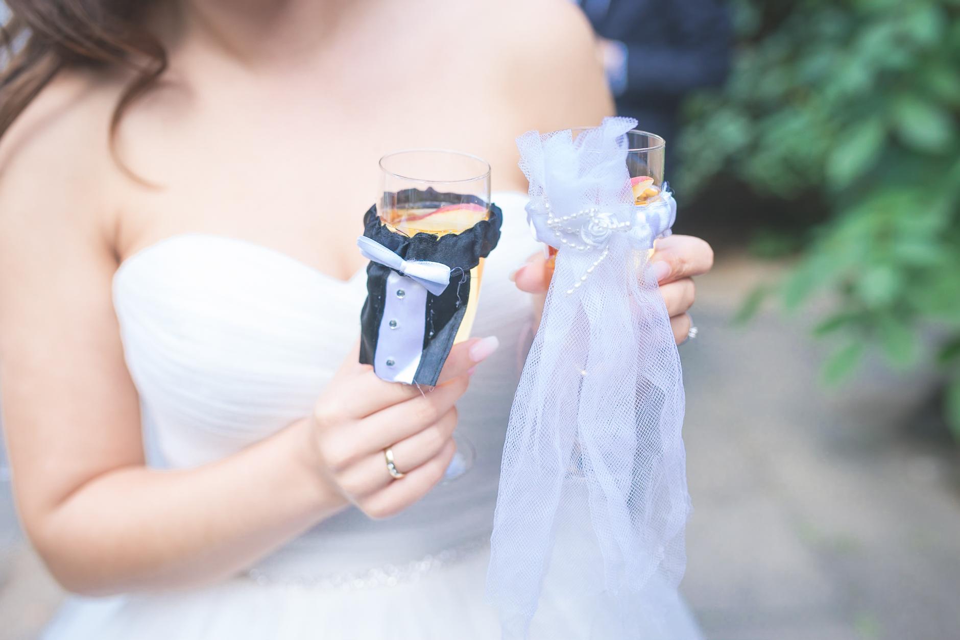 Details - Braut- und Bräutigamgläser