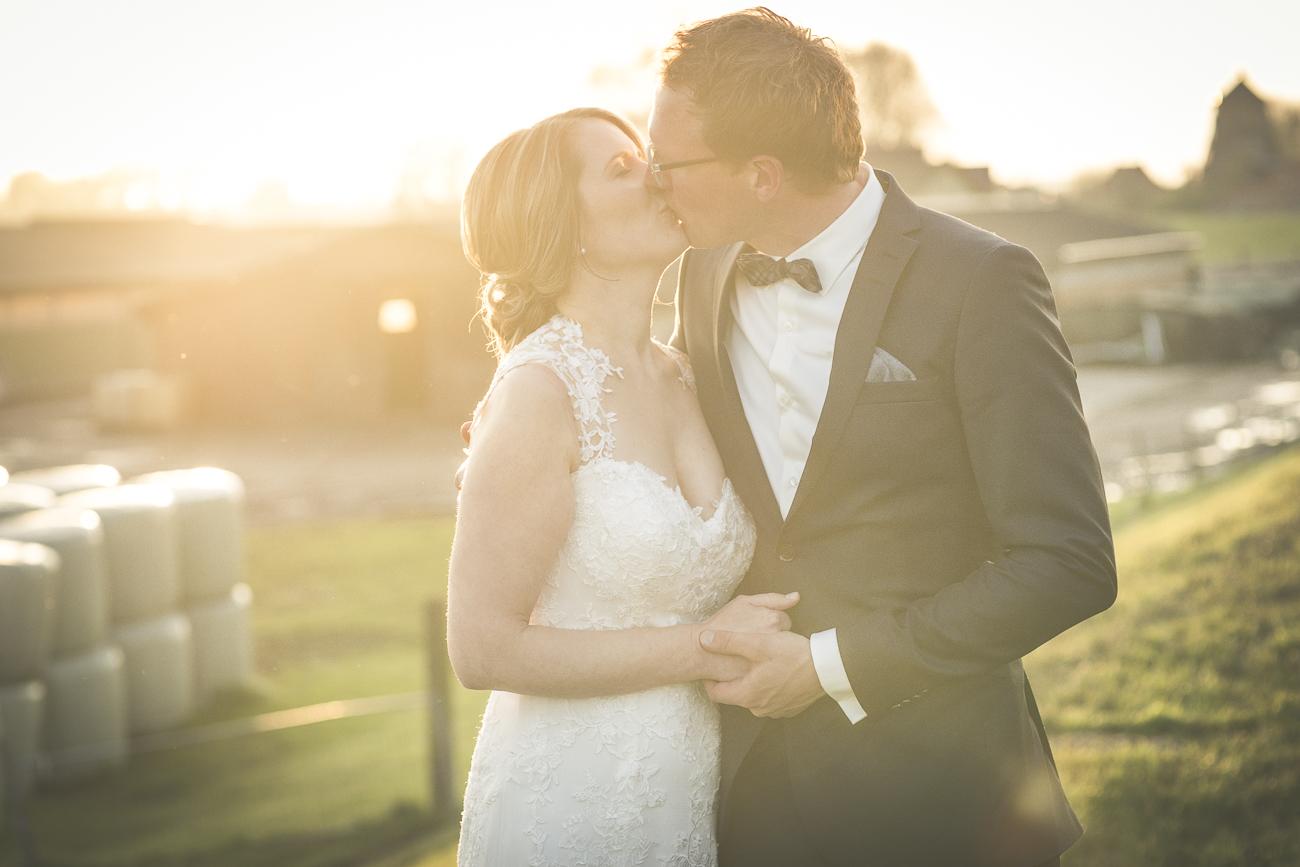 Brautpaar-Shooting in der Abendsonne