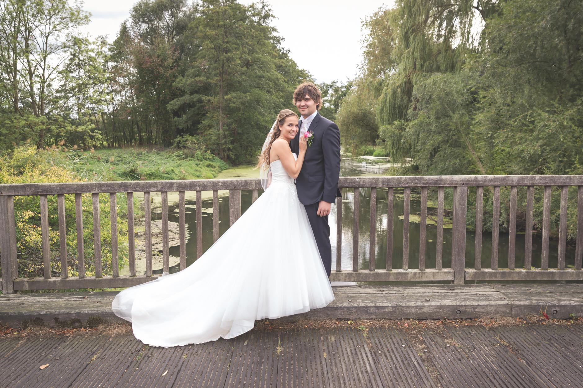 Kurz bevor der Bräutigam noch kurz Angeln musste...