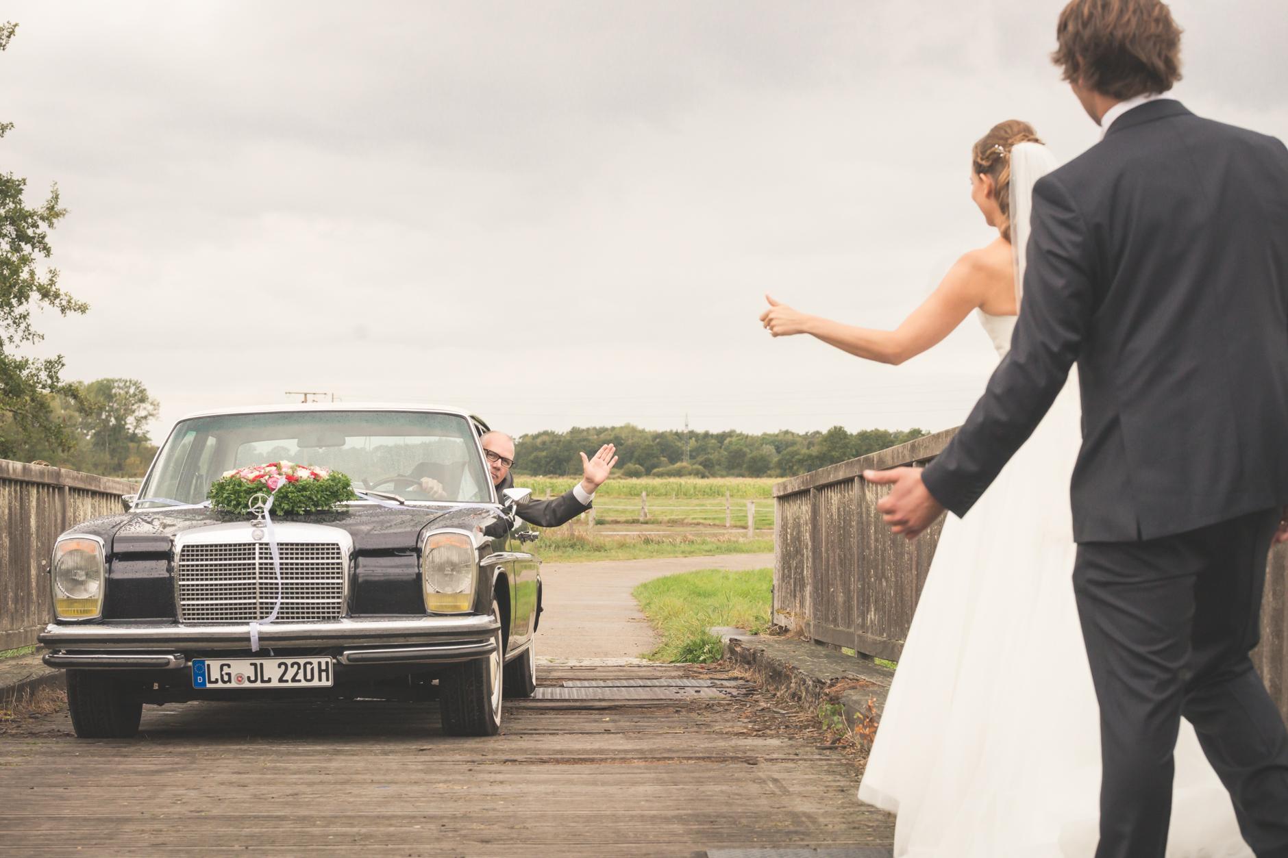 Keine Hochzeitsreportage ohne Brautauto