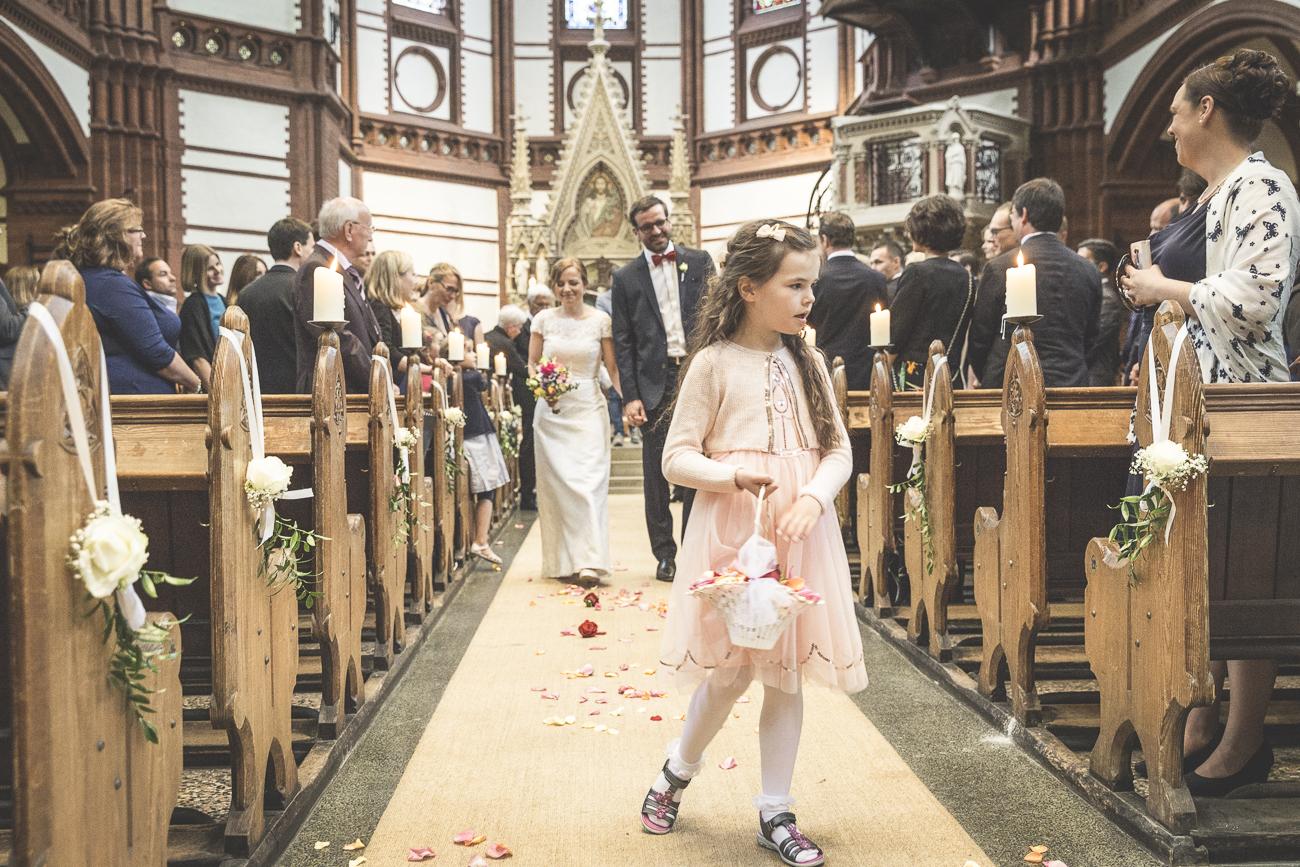 St. Getrud - Auszug der Brautleute