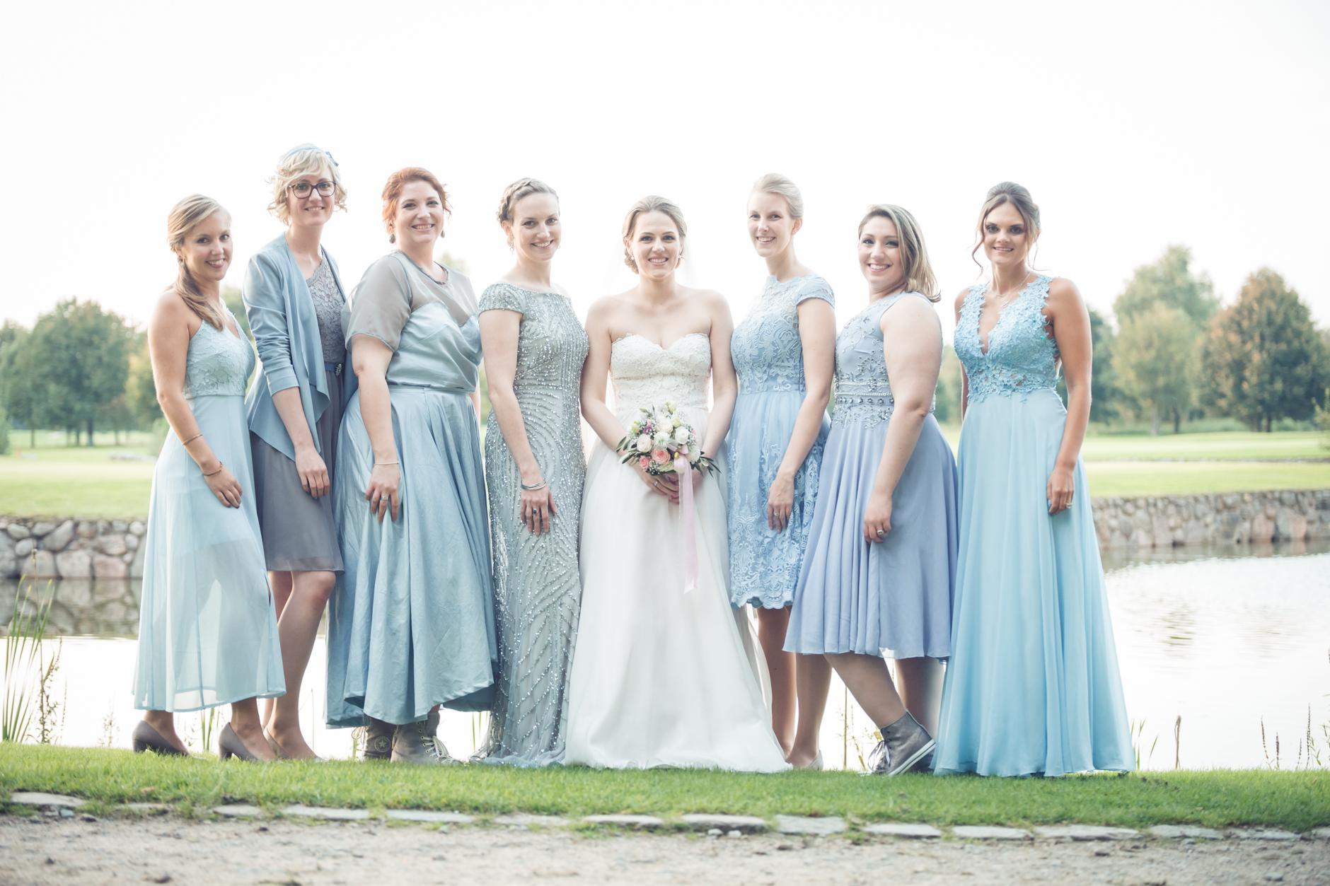 Glückliche Braut in Treudelberg