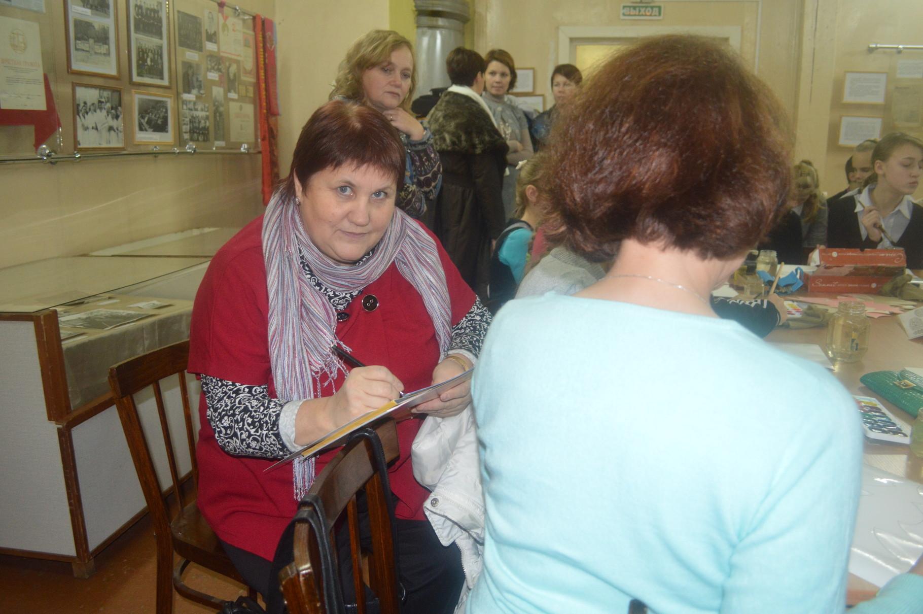А.А. Минина в музее на мастер-классе