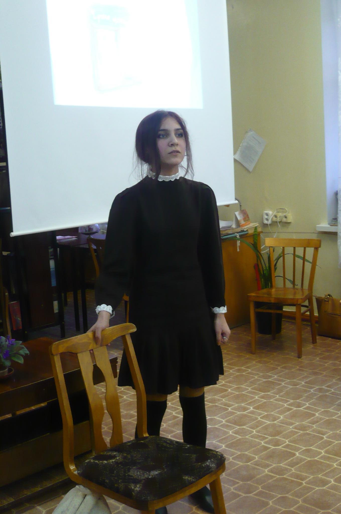 Лиза Лещева, которая очень эмоционально прочитала  отрывок из повести «Чучело».