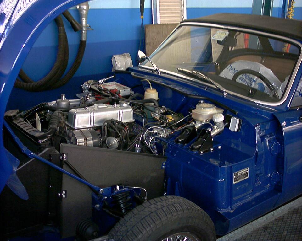 Cofano motore completato