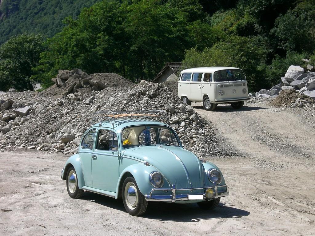 vw maggiolino - anno 1965 e vw trasporter t2 - anno 1976