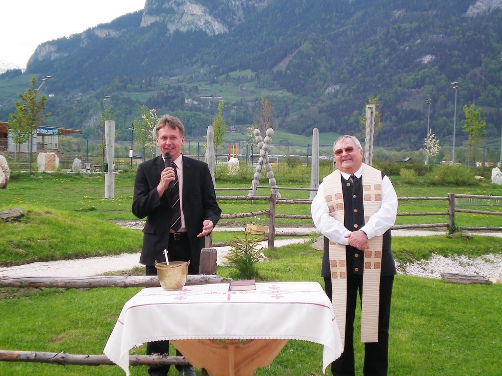 Bürgermeister aus Irdning und Pfarrer