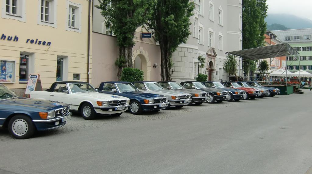 Mercedes-Cabrio - Treffen