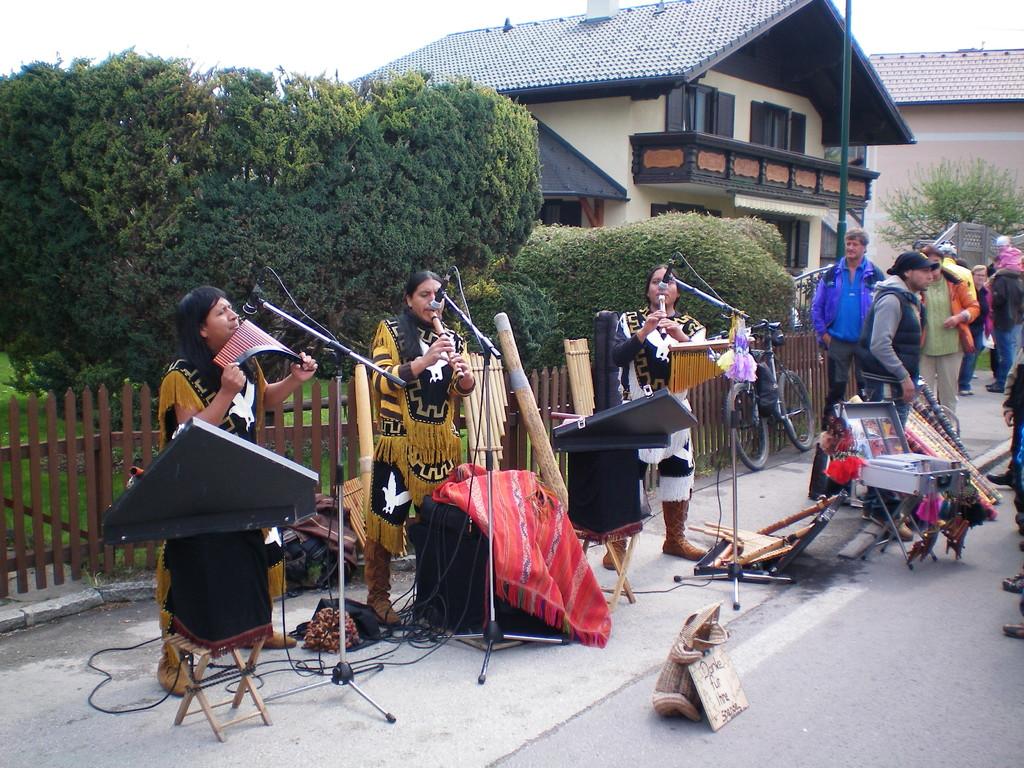 Musikgruppe aus dem Anden