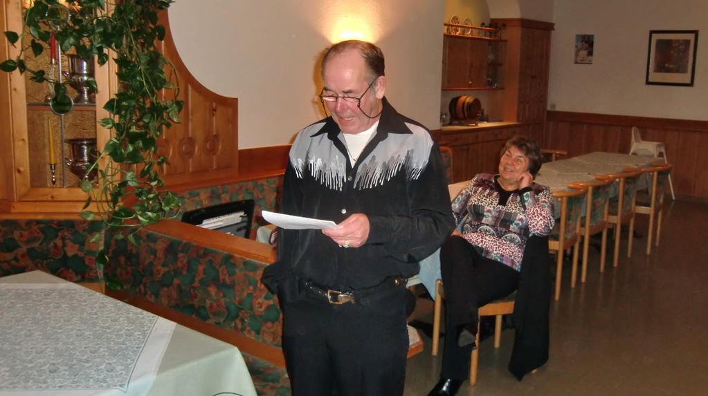 Obmann Peter mit Heiligenschein