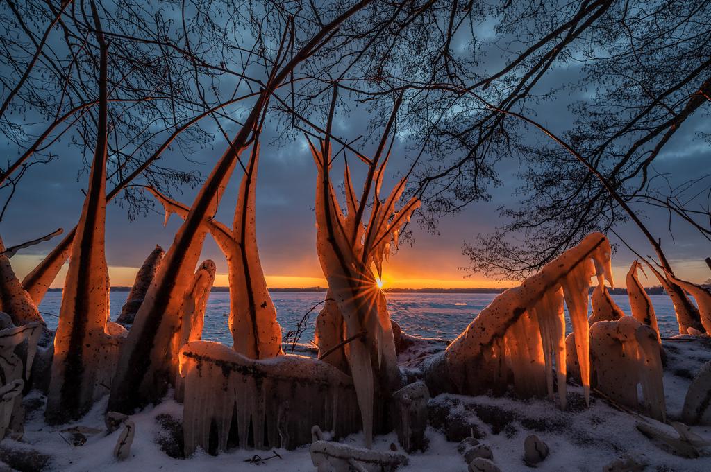 Eisglühen bei Sonnenaufgang - Michael Greilich