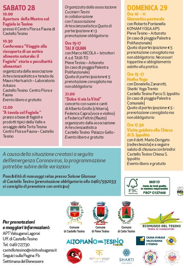 I 10 giorni del Benessere 2021, provincia di Trento, da Sabato 28 Agosto a Domenica 29 Agosto