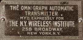 Wireless Institute plate