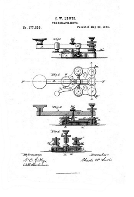 First Lewis patent 1876