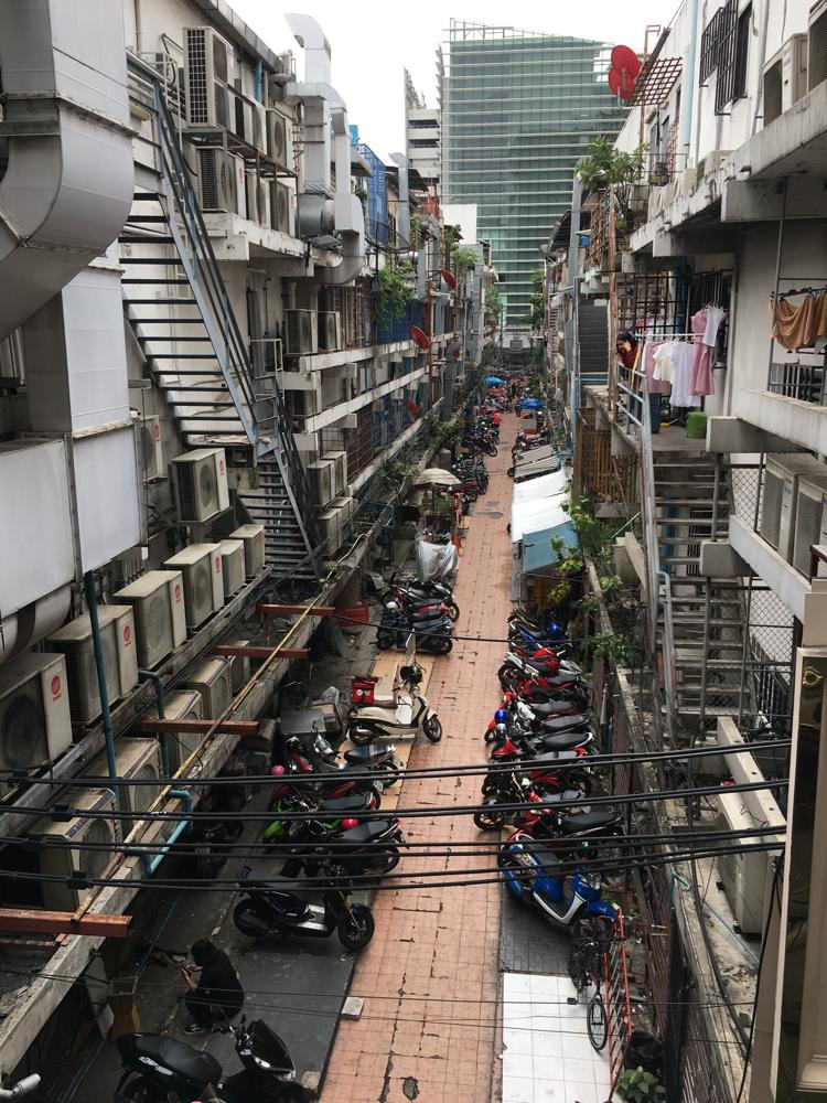 Ausblick auf einen Markt in Bangkok