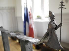 maquette de la sculpture signée Jean-Luc Schické