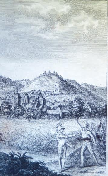 """gravure extaite de """"La guerre d'Alsace pendant le grand schisme d'Occident"""", Ramand de Carbonnières, 1780"""