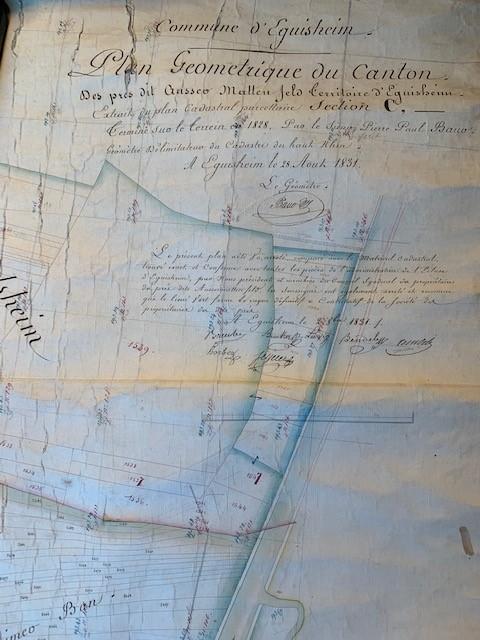 1831 plan cadastral des 137,13 hectares de prés