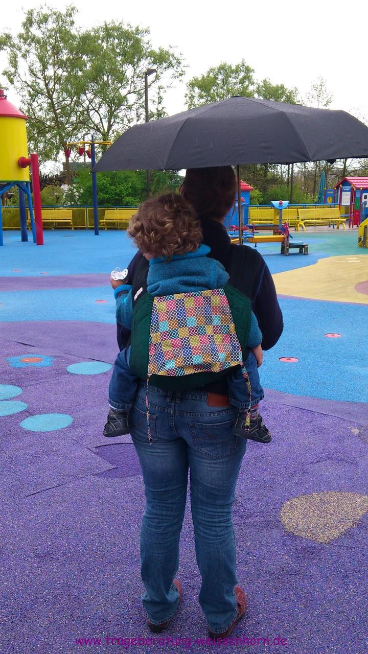 Bei Regen reicht ein Schirm für zwei!