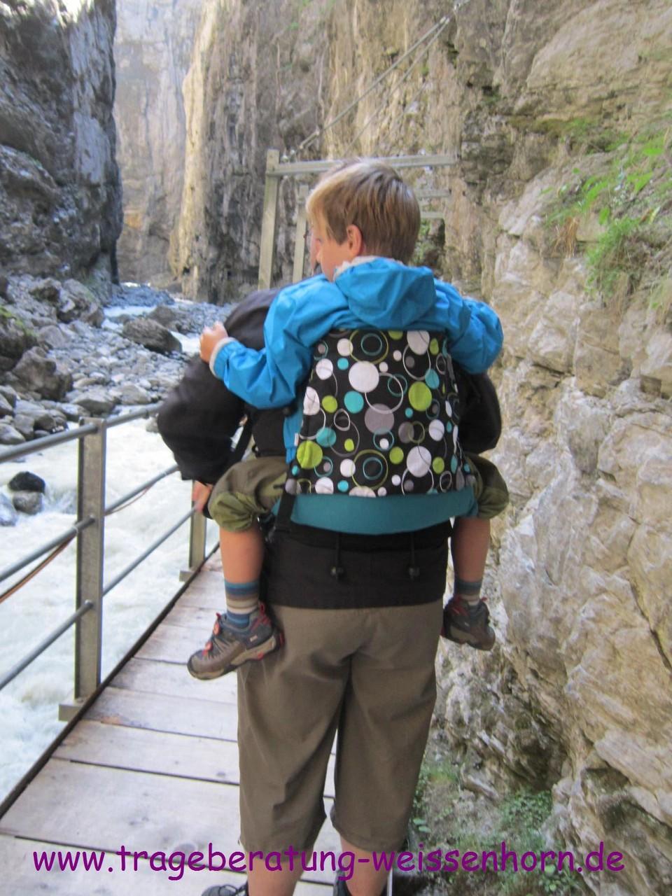 In der Gletscherschlucht mit 5 Jahren