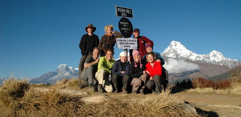 Het hoogste punt van de trekking: Poon Hill op 3210 meter hoogte.