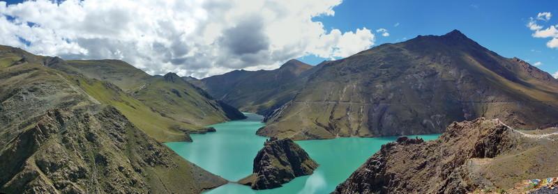 Het Manla Tso vanaf de Simi La (op 4350 m.)