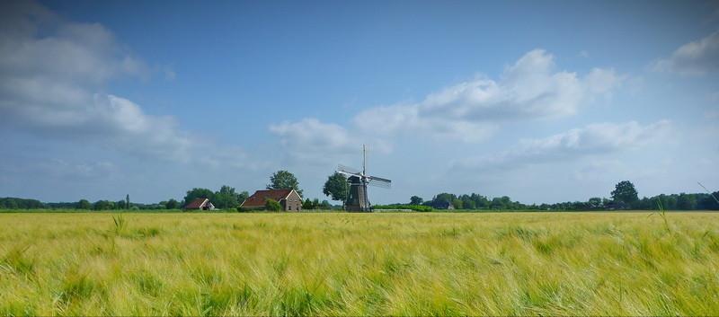 Een poldermolen bij Slochteren
