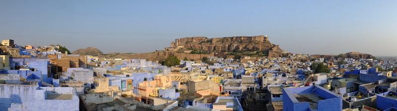Het Mehrangarh fort in Jodhpur (de blauwe stad)