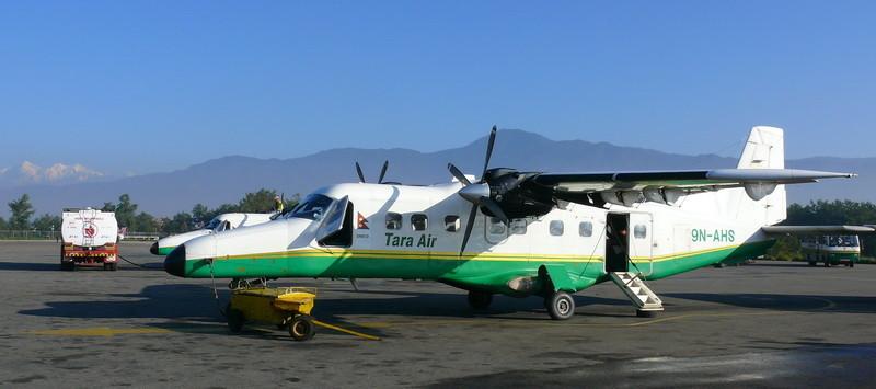 Het 19 persoons vliegtuig dat ons naar Lukla bracht