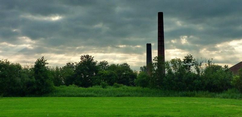 De oude steenfabriek bij Rottum