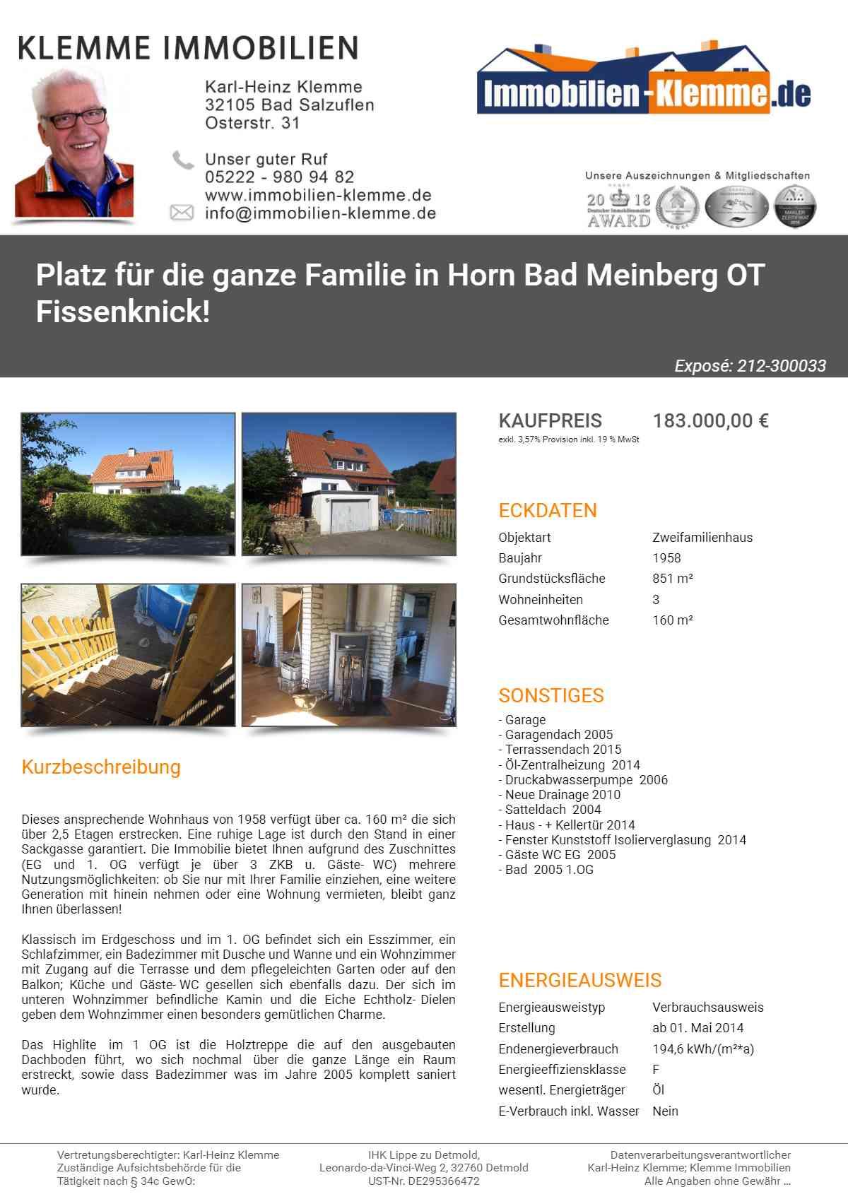 Wohnungen In Bad Salzuflen : einfamilienhaus haus kaufen in h user hausverkauf bad ~ Watch28wear.com Haus und Dekorationen