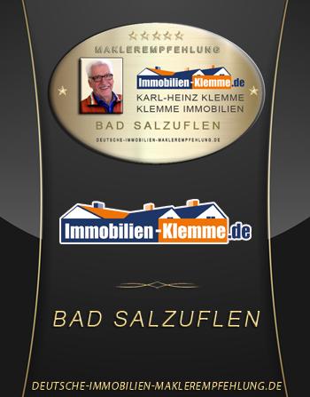 MAKLEREMPFEHLUNG BAD SALZUFLEN KARL HEINZ KLEMME IMMOBILIEN IMMOBILIENMAKLER BAD SALZUFLEN