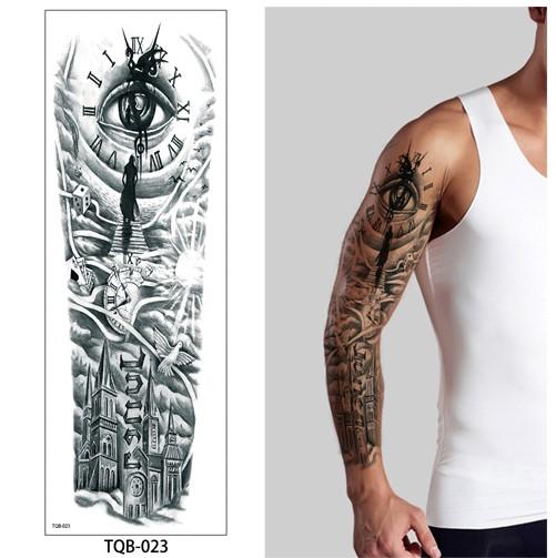 tatouage bras homme entier horloge. Black Bedroom Furniture Sets. Home Design Ideas