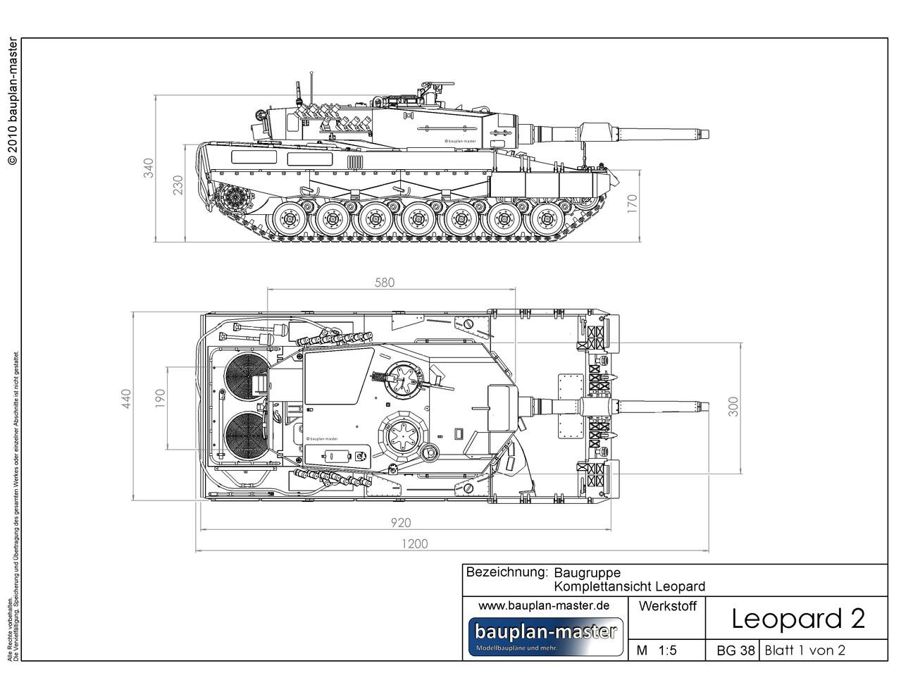 modellbauplan leopard 2a4 im ma stab 1 8 bauplan master. Black Bedroom Furniture Sets. Home Design Ideas