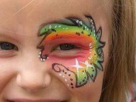 Kinder+schminken+Regenbogen