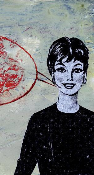 Sonja Streng, …und dass Du mir nicht vom Weg abkommst…, 2020, 45×62cm, Mischt. auf Pap., Ausschnitt