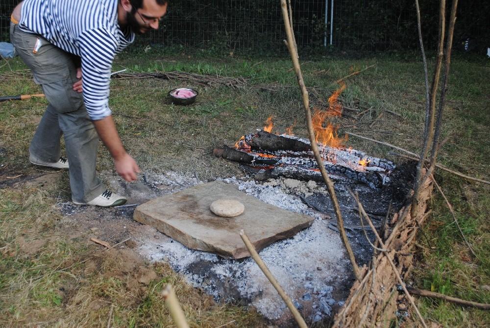 Masa de harina de trigo y bellota (50%-50%)