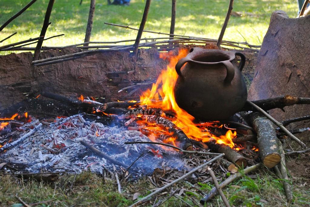 Recreación experimental del cocinado de alimentos en la Protohistoria