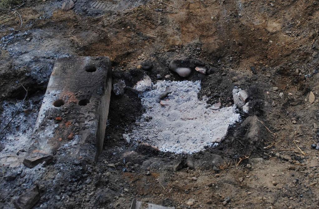 Aspecto de la cámara de combustión una vez desmontado el horno