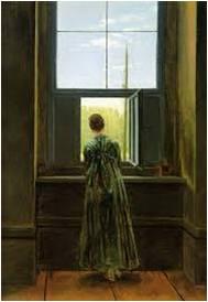 C.D. Friedrich, Frau am Fenster (1822)